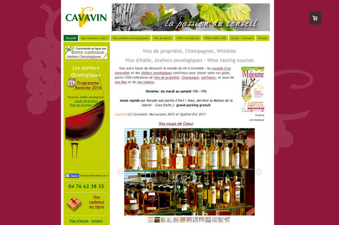 Site web Cavavin Saint Martin D'Heres