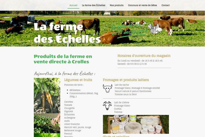 Site internet de la Ferme des Echelles à Crolles