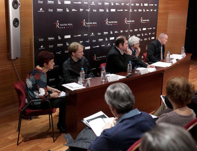 Presentación del montaje de La Flauta Mágica de Mozart, con Ivor Bolton, Director musical del Teatro Real, y Tobías Ribitzki, realizador de la dirección de escena. Cortesía Teatro Real. 2016