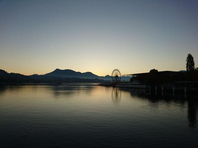 Morgenblick auf den Vierwaldstättersee, Luzern