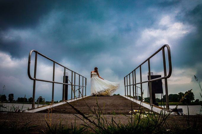 Bruidsfotografie bij slecht weer
