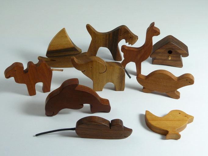 Tier-Magnete aus Holz