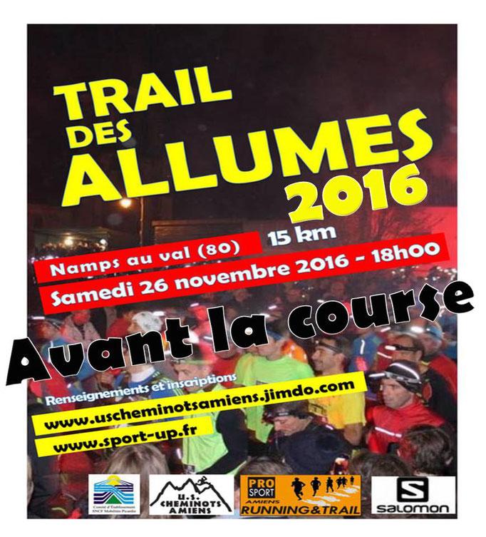 Trail des Allumés 2016 - Avant la course (Namps au Val - dép80 - 15km - Sam26/11/2016)