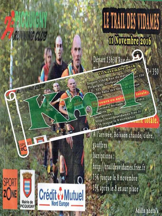 Trail des Vidames 2016 - Km1 (Picquigny - dép80 - 23km - Ven11/11/2016)