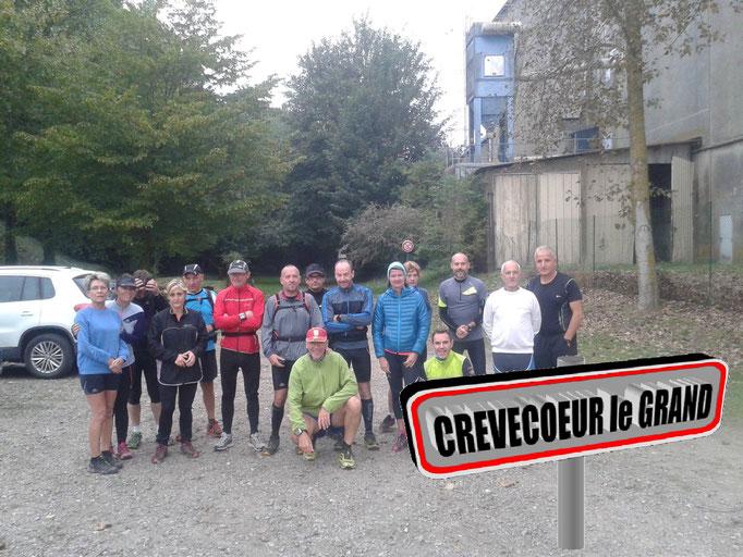 Sortie à Crevecoeur le Grand avec Gaétan (dép60 - 9/17/22km - Sam08/10/2016)
