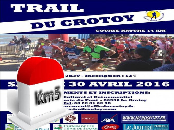 Trail du Crotoy - Km5 (dép80 - 14km - Sam30/04/2016)