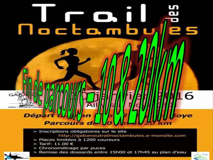 Trail des Noctambules - Fin des parcours (Ailly/Noye - dép80 - 10/20km - Sam30/01/2016)