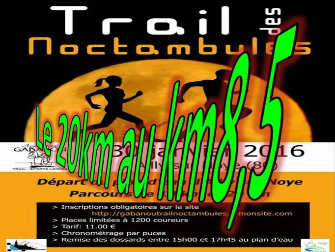 Trail des Noctambules - Le 20km au 8,5km (Ailly/Noye - dép80 - 10/20km - Sam30/01/2016)