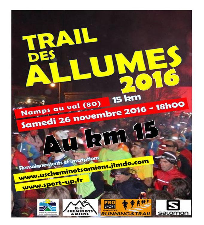 Trail des Allumés 2016 - Au km15 (Namps au Val - dép80 - 15km - Sam26/11/2016)