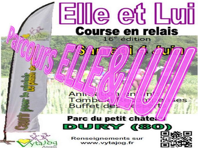 Elle et Lui 2016 - Parcours Elle&Lui (Dury - dép80 - Sam04/06/2016)