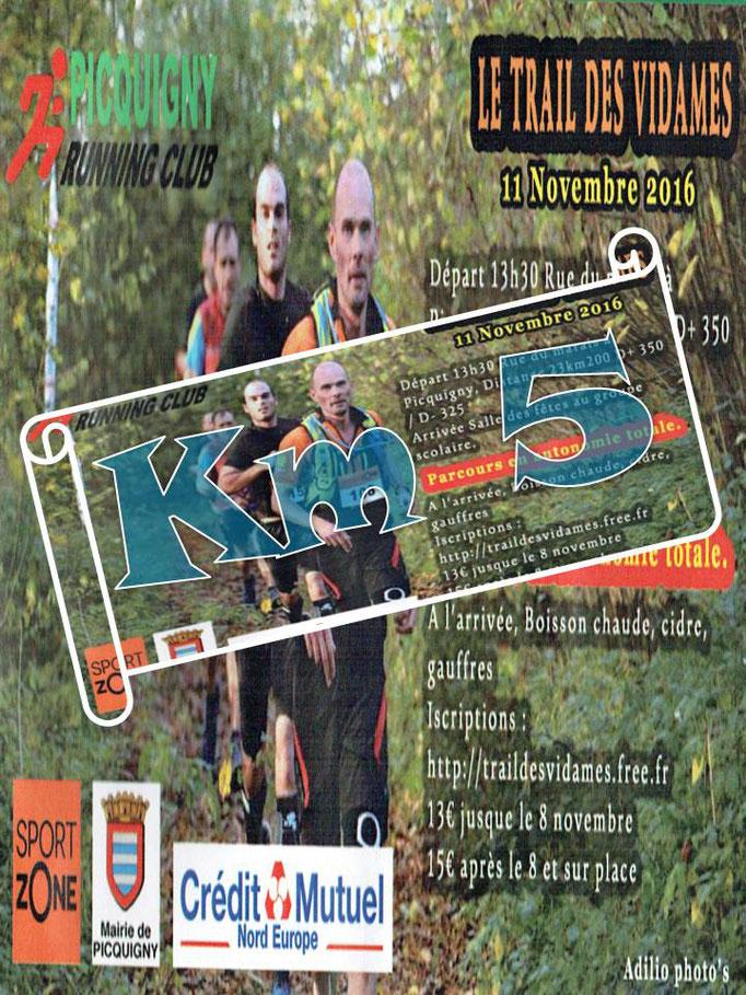 Trail des Vidames 2016 - Km5 (Picquigny - dép80 - 23km - Ven11/11/2016)