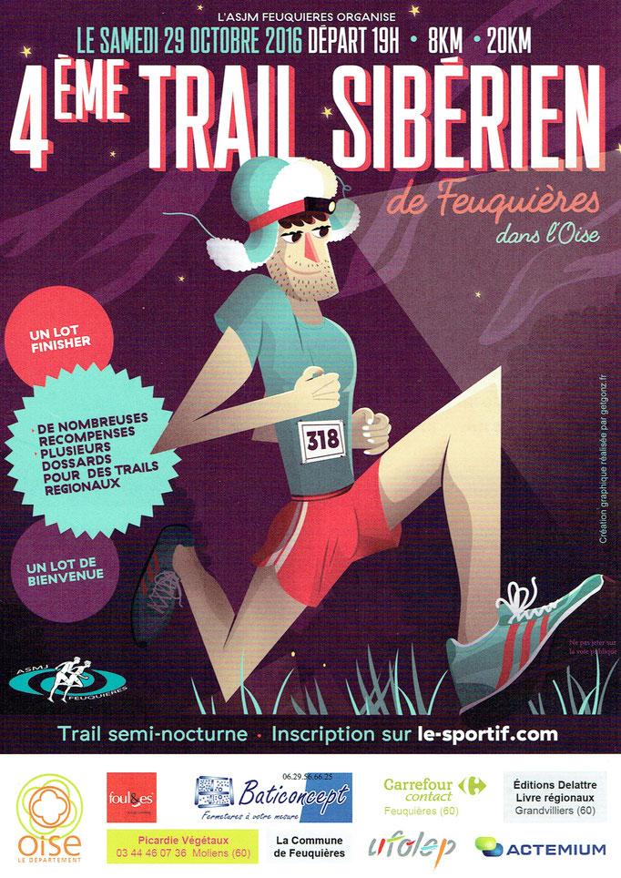 Trail Sibérien 2016 (Feuquières - dép60 - 8/20km - Sam29/10/2016)