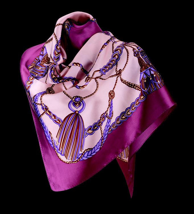 Halstuch Seide Damen , mit elegantem Design aus Satin Seide