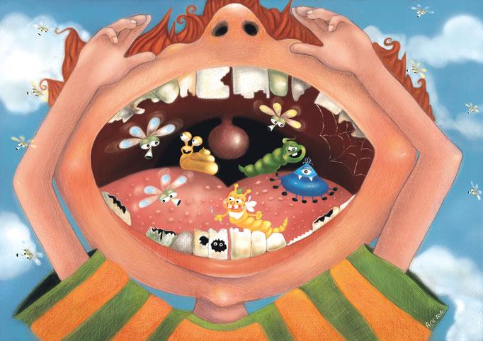 Skutki nie mycia zębów :)