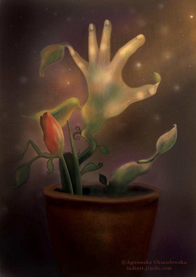 Wiosenny kwiatuszek - cyfrowa