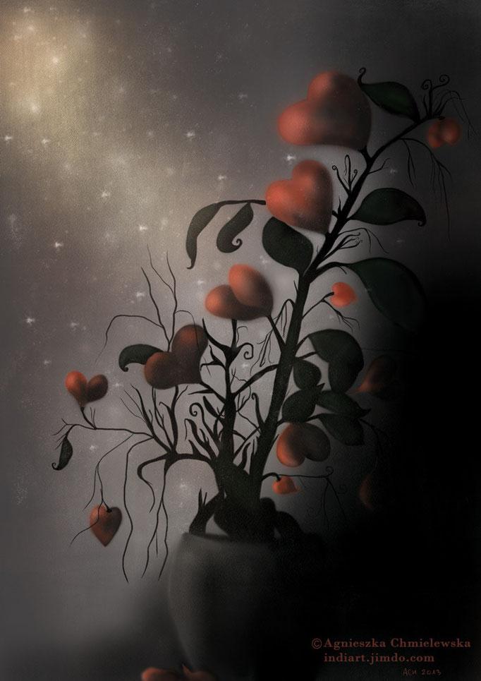 Kwiat serce - cyfrowa