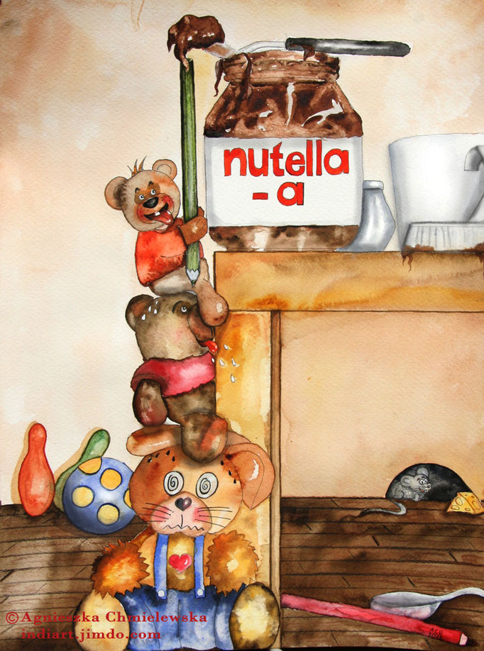 Nutella moja miłość - akwarela