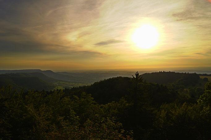 Sonnenuntergang in der Schwäbischen Alb