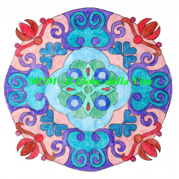 Mandala colorato a mano - primavera 2017