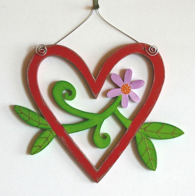 Herz mit Blume