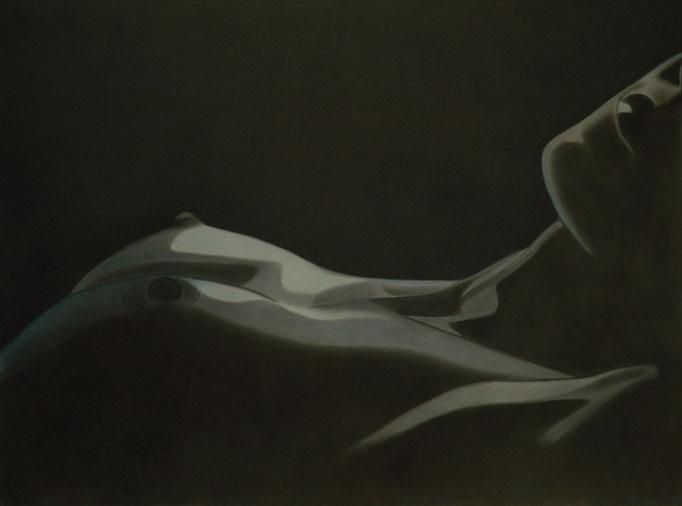 """""""Liegender Akt, Teilansicht"""" - Sonny Lindgens - 120 x 100 cm, Kohle/Acryl - 2006"""
