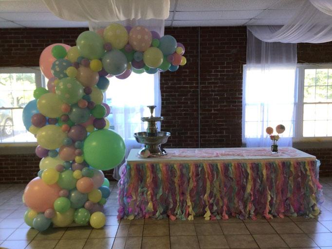 Air-Filled Balloon Organic Demi Half Arch Polka Dot Pastel Matte