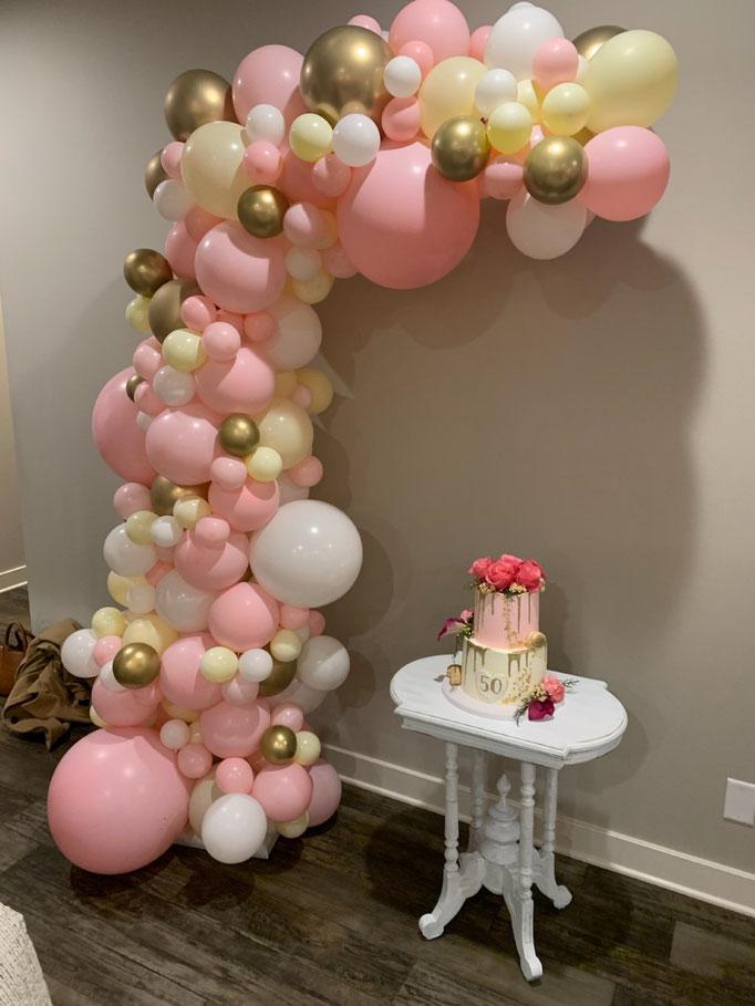 Air-Filled Balloon Organic Demi Half Arch Demi-Arch