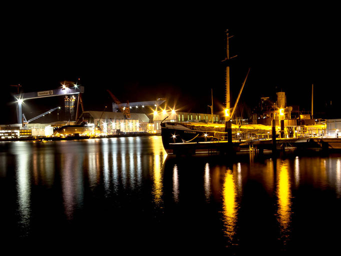 Kieler Hafen, Nachtaufnahme