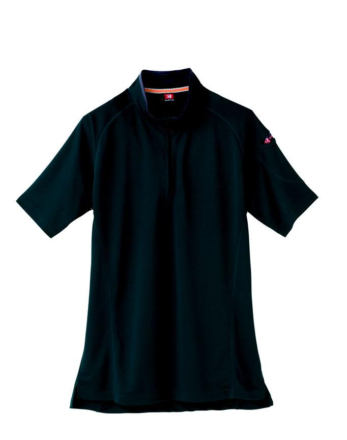 BURTLE(バートル)415 半袖ジップシャツ  17  クーガー
