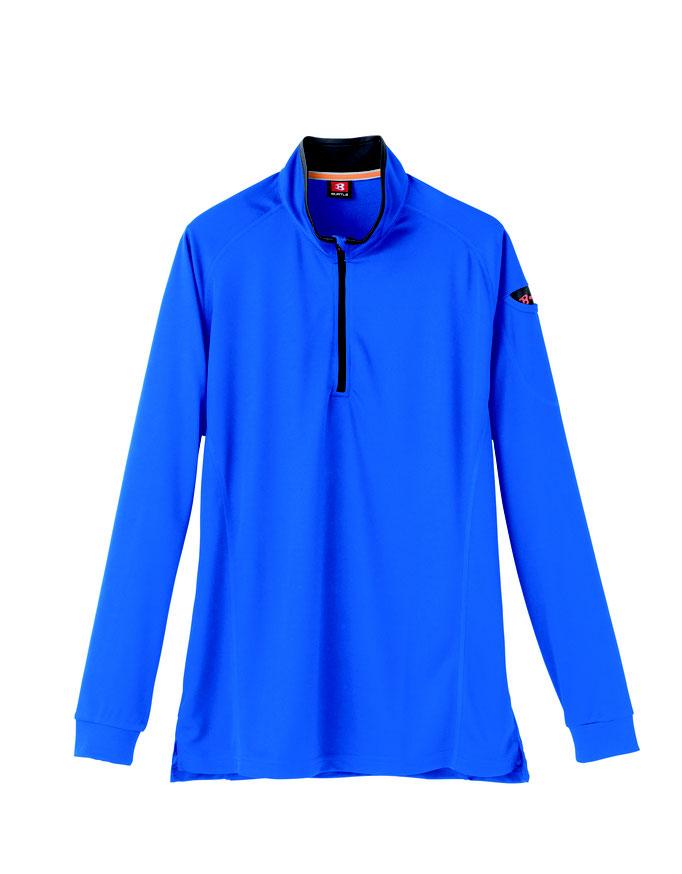 BURTLE(バートル)413 ジップシャツ  47 サーフブルー
