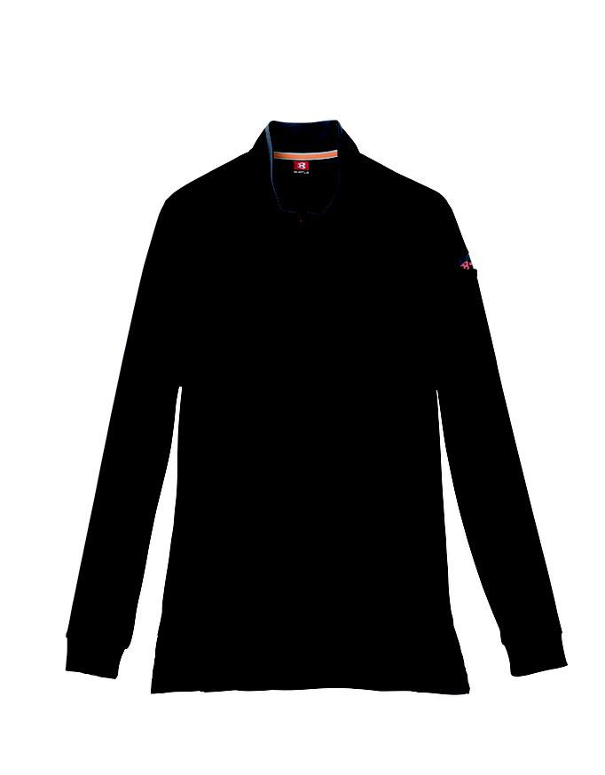 BURTLE(バートル)413 ジップシャツ  35  ブラック