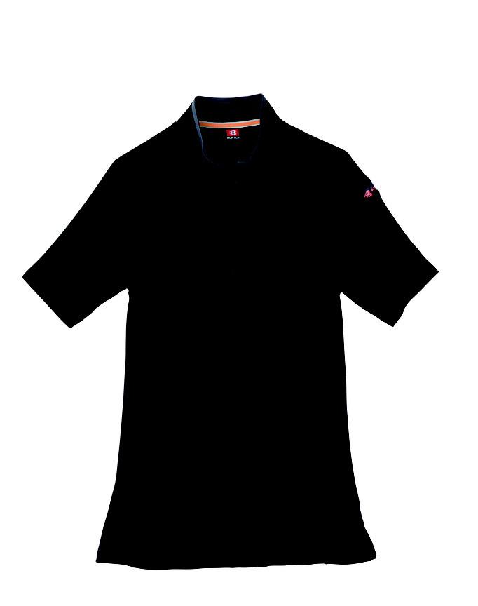 BURTLE(バートル)415 半袖ジップシャツ  35 ブラック