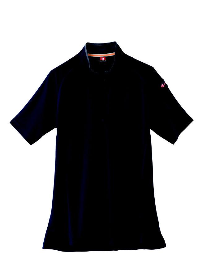 BURTLE(バートル)415 半袖ジップシャツ  3 ネービー