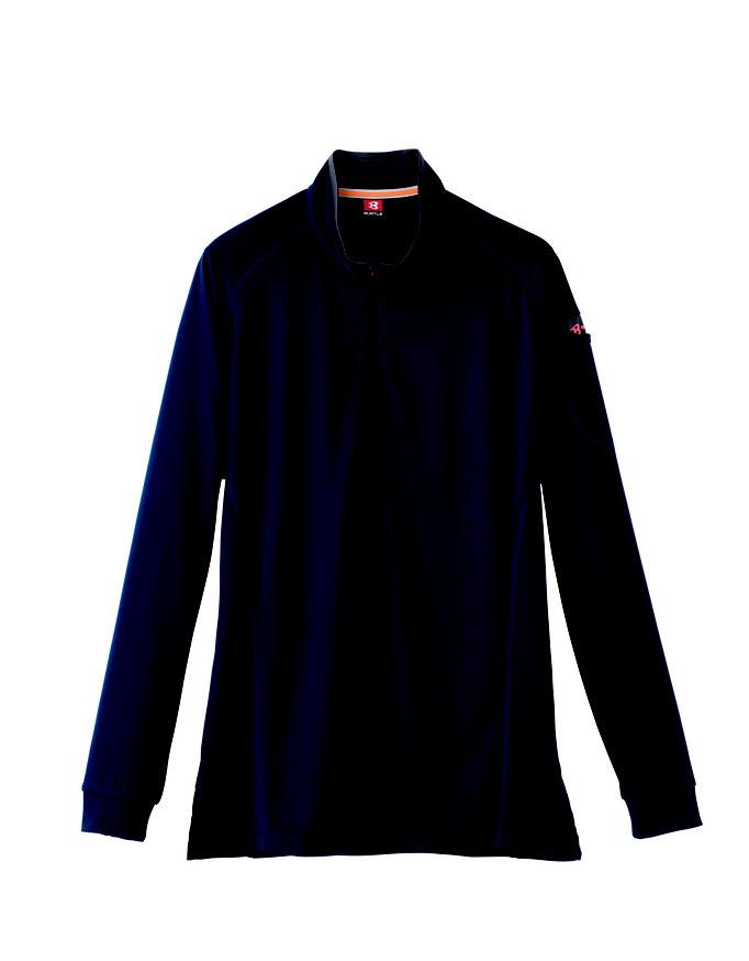 BURTLE(バートル)413 ジップシャツ  3 ネービー