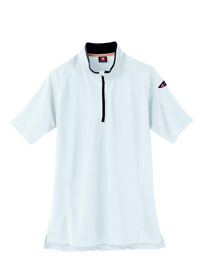 BURTLE(バートル)415 半袖ジップシャツ  29  ホワイト