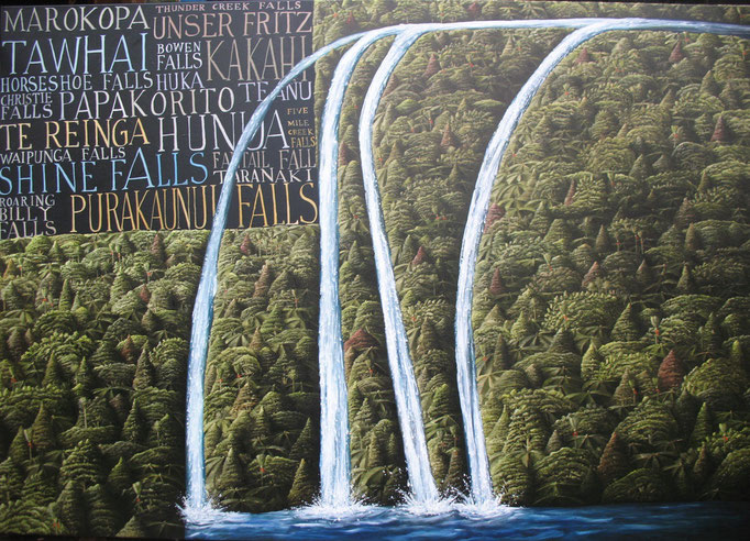 'Big Waterfall' 1100x1600mm Oil on canvas