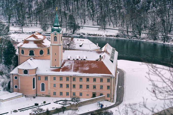Kloster Weltenburg Blick von oben.