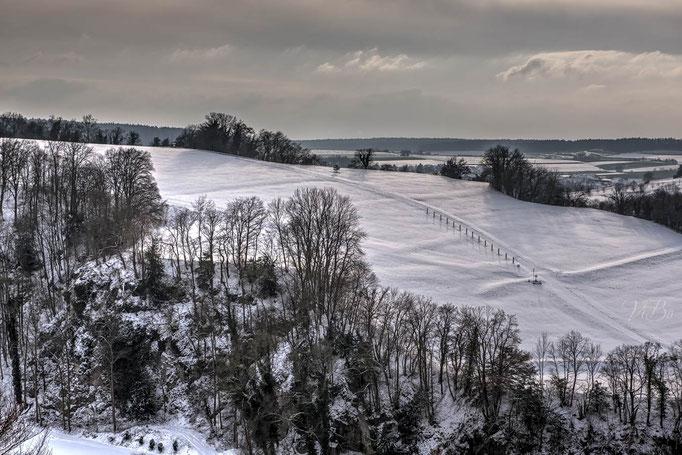Oberhalb von Kloster Weltenburg.