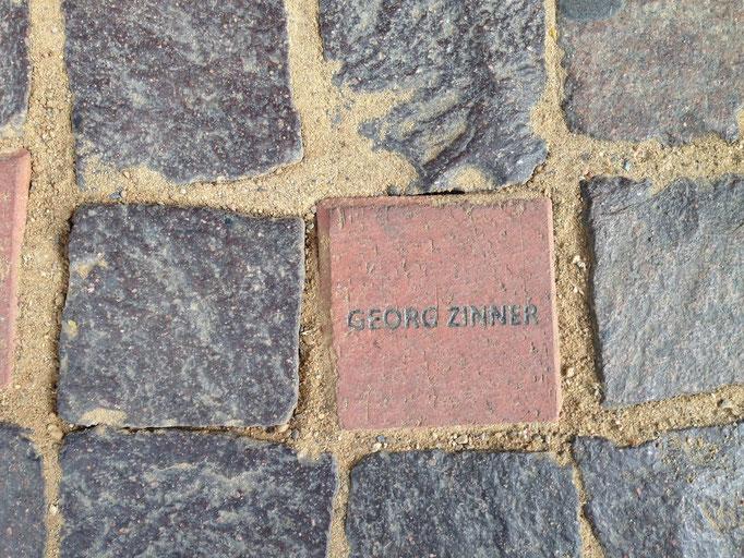 Spendenstein für Georg Zinner