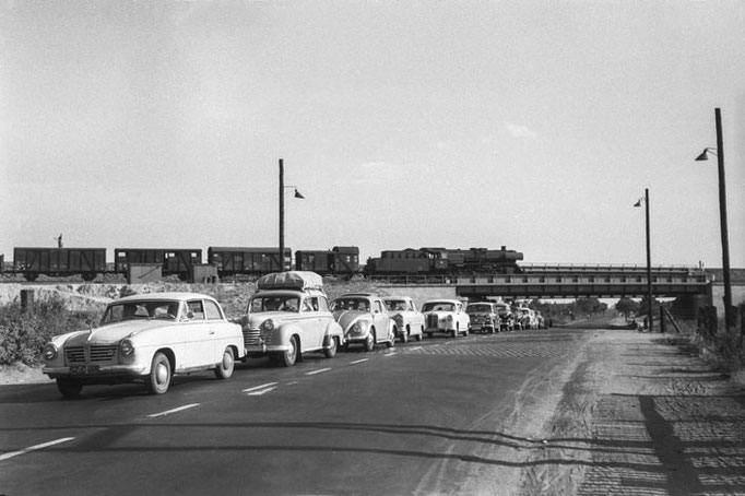 Braunschweig, Alte Frankfurter Straße, um 1960  I  Copyright by Stiftung Eisenbahn Archiv Braunschweig