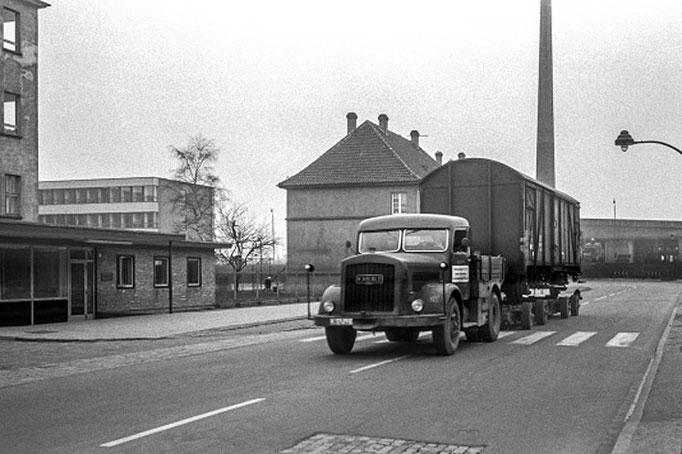 Kaelble-Straßenroller, Ackerstraße, Ende 1950-er Jahre  I  Copyright by Stiftung Eisenbahn Archiv Braunschweig