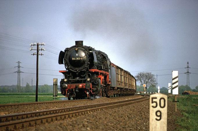 Güterzug nach Lehrte, Wierthe 1972  I  Copyright by Stiftung Eisenbahn Archiv Braunschweig