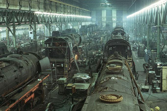Dampflok-Ausbesserungswerk Braunschweig, 1970  I  Copyright by Stiftung Eisenbahn Archiv Braunschweig