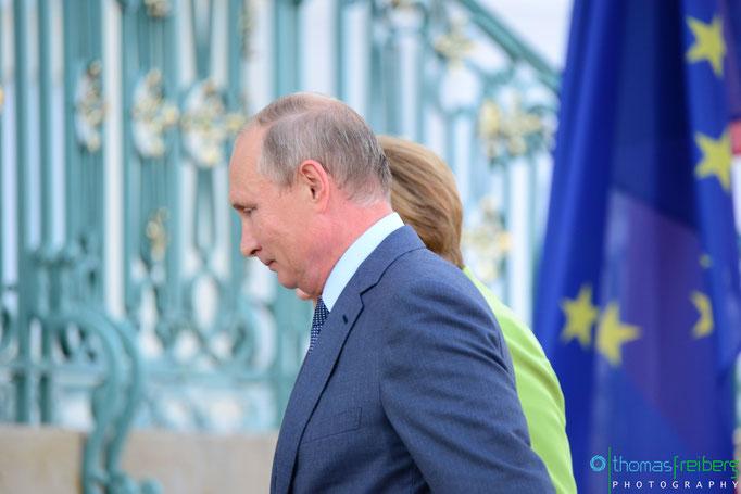 Besuch Wladimir Wladimirowitsch Putin bei Angela Merkel auf Schloß Meseberg