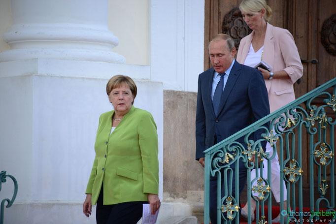 Besuch Wladimir Wladimirowitsch Putin bei Angela Merkel auf Schloss Meseberg - Copyright © - Thomas Freiberg - All Rights reserved.f