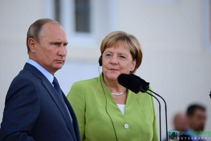 Besuch Wladimir Wladimirowitsch Putin bei Angela Merkel auf Schloss Meseberg - Copyright © - Thomas Freiberg - All Rights reserved.