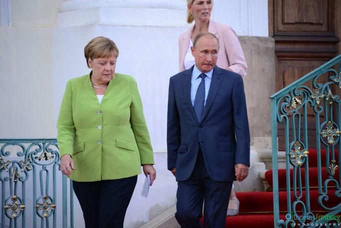 Besuch Wladimir Wladimirowitsch Putin bei Angela Merkel auf Schloss Meseberg