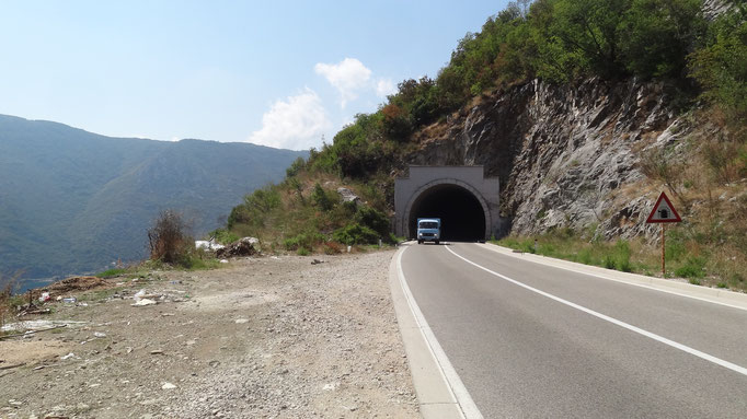 Dangerous, tunnels, on the way to Niksic