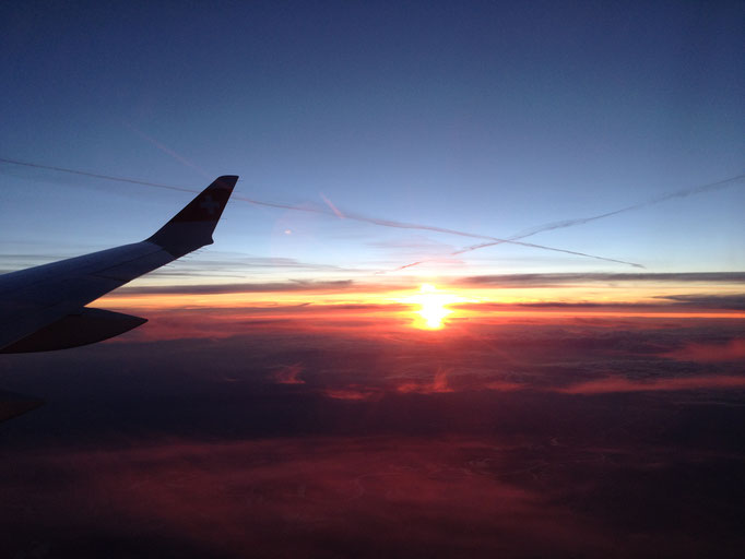 Rückflug über Deutschland