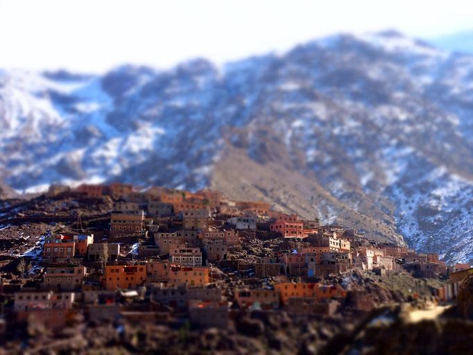 Sidi Chamharouch, dass letzte Dorf richtung Jebel Toubkal.